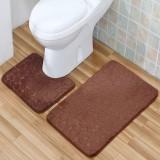 2 PCS Non Slip Toilet Cover Rugs Bath Mat Set Bath Shower Bathroom Floor Carpet