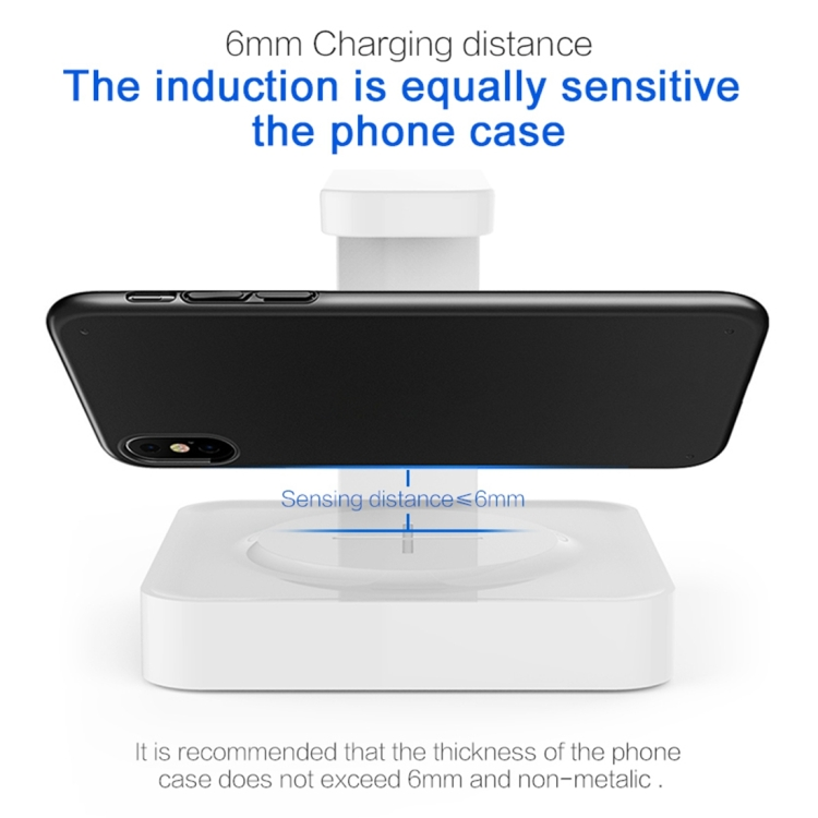 Multi-functional UV Light Disinfection Sterilization Wireless Charger for Phone (White)