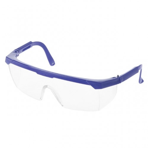 10 PCS Outdoor Safety Glasses Spectacles Eye Protection Goggles Dental Work Eyewear (Blue Frame White Lens)