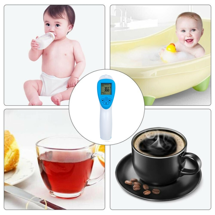 BOHUI T-168 IR Infrared Thermometer Forehead Surface Digital Non-contact Electronic Thermometer, Temperature Range: 32 degrees Celsius to 42.9 degrees Celsius