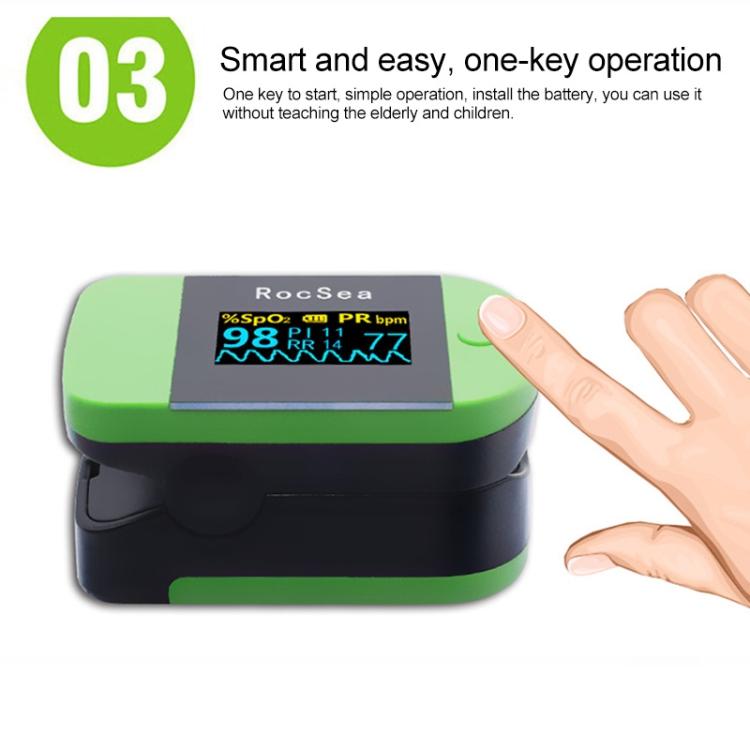 Portable Precision Finger Pulse Oximeter Blood Oxygen Monitor (Blue)
