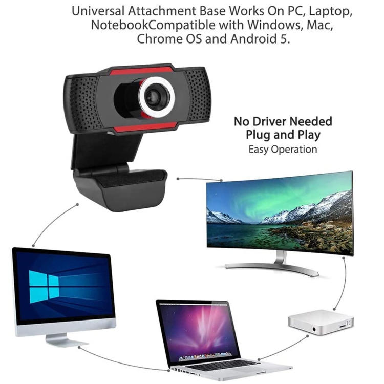 A480 480P USB Webcam with Microphone Plug and play Camera for Laptop PC