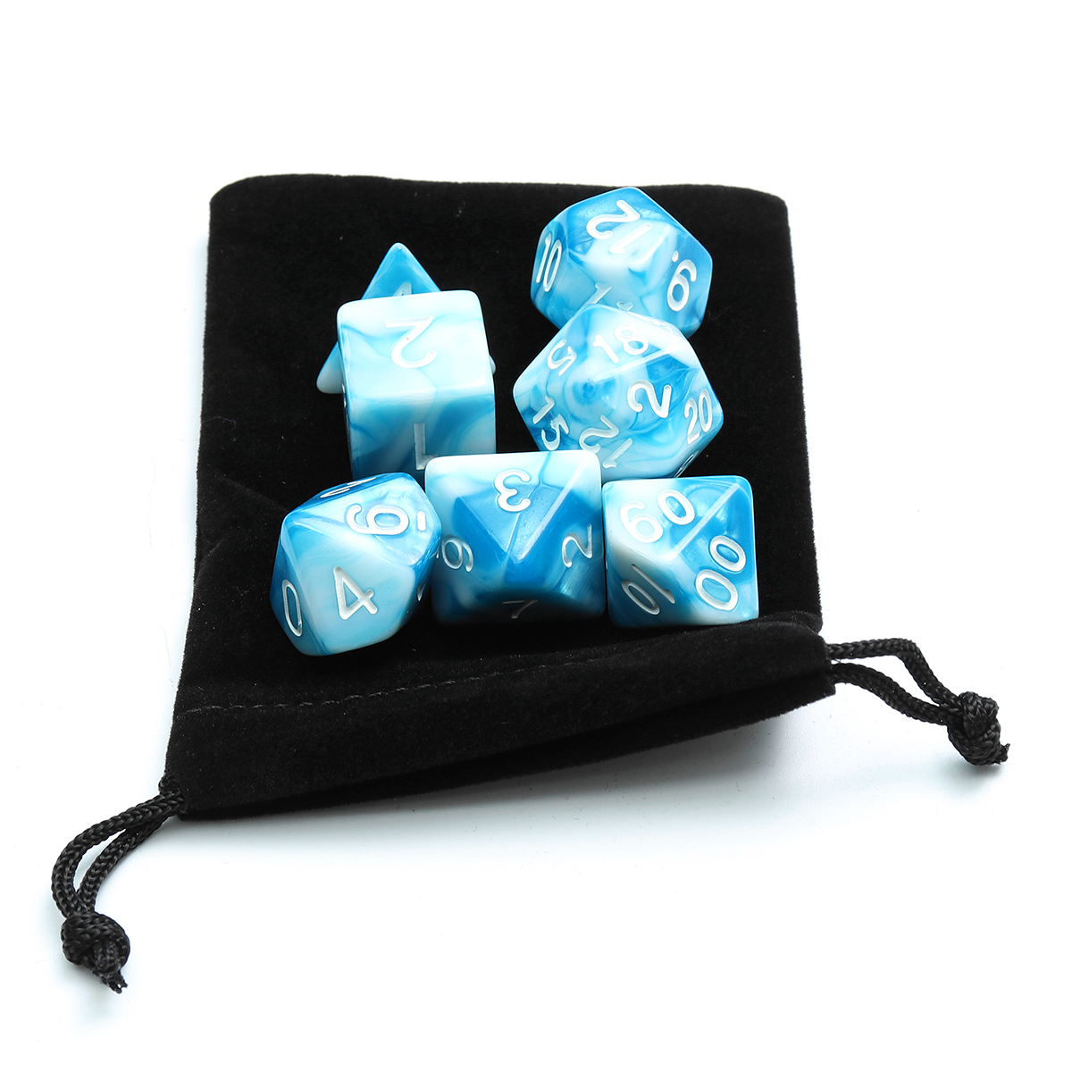49/56/70Pcs Polyhedral Dices for Dungeons & Dragons Desktop Games With Storage Bags