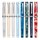 Penbbs 352 Resin Fountain Pen Nib 0.5mm F Rotary Inking Writing Signing Pen Gift