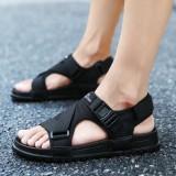 Men Hook&Loop Opened Toe Casual Beach Soft Sole Sandals