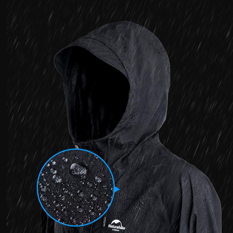 Naturehike Man/Women Fashion Adult Long Raincoat Hiking Breathable Windbreaker Daily Waterproof Poncho Camping Jacket
