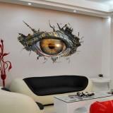 Dinosaur Eyes 3D Art Wall Sticker Living Room Decoration Wall Stickers Bedroom Kids Room Decor