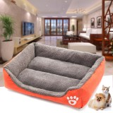 110x85x19cm Soft Dog Cat Bed Puppy Cushion House Pet Warm Kennel Mat Blanket
