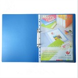 1 Piece A4 Blue File Folder 2 Holes O-shape Ring Binder Document Folder Desktop File Organizer Office School Supplies