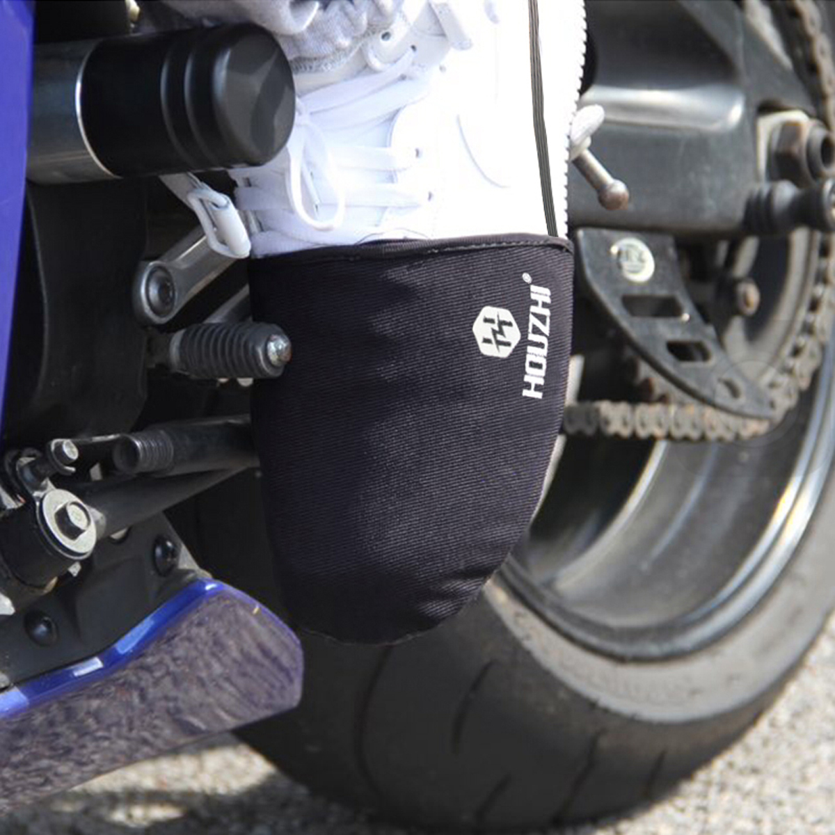 Motorcycle Shifter Shoe Cover Sock Boot Protecter Anti-slip Rubber Black Waterproof