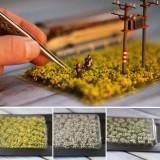 Mini Scenery Flower Artificial Clusters Ciniature Model Scale Train Landscape Decorations