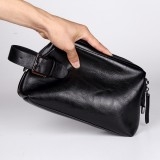 Casual clutch men's business document clutch bag pu leather bag tide male clutch mobile phone bag