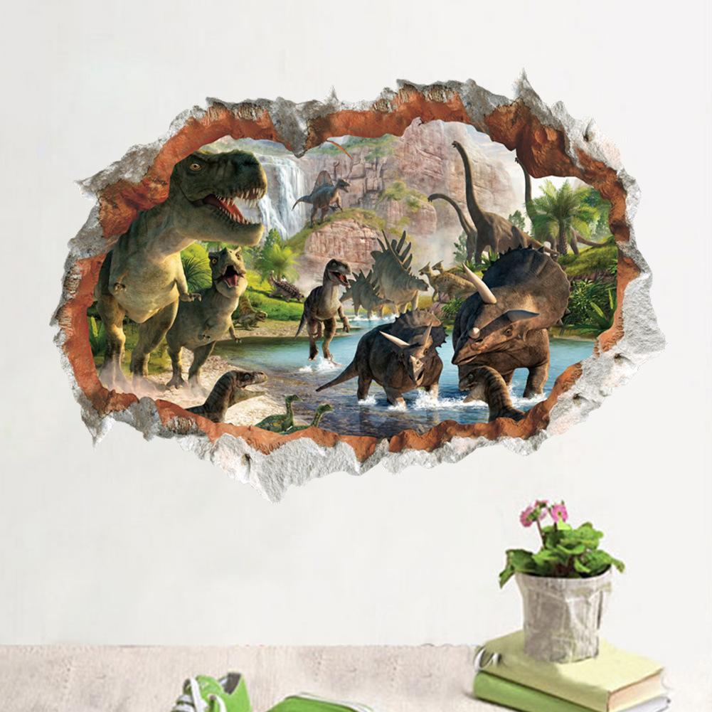 Bedroom Dinosaurs Kids Room Decor Wall Sticker Wall Decal Wall Decal 3D Art Stickers Vinyl Room