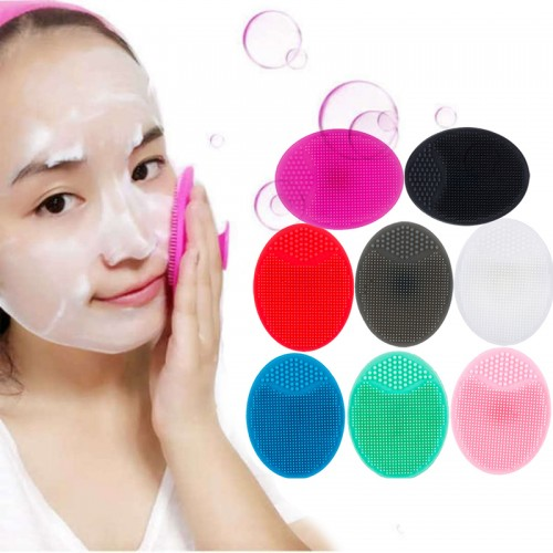 Silicone Cleansing brush Washing Pad Facial Exfoliating Blackhead Face Cleansing Brush Tool Soft Deep Cleaning Face Brush Beauty Machine