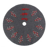120cm Gray Felt Christmas Tree Skirt Stand Floor Mat Cover For Xmas Party Decorations