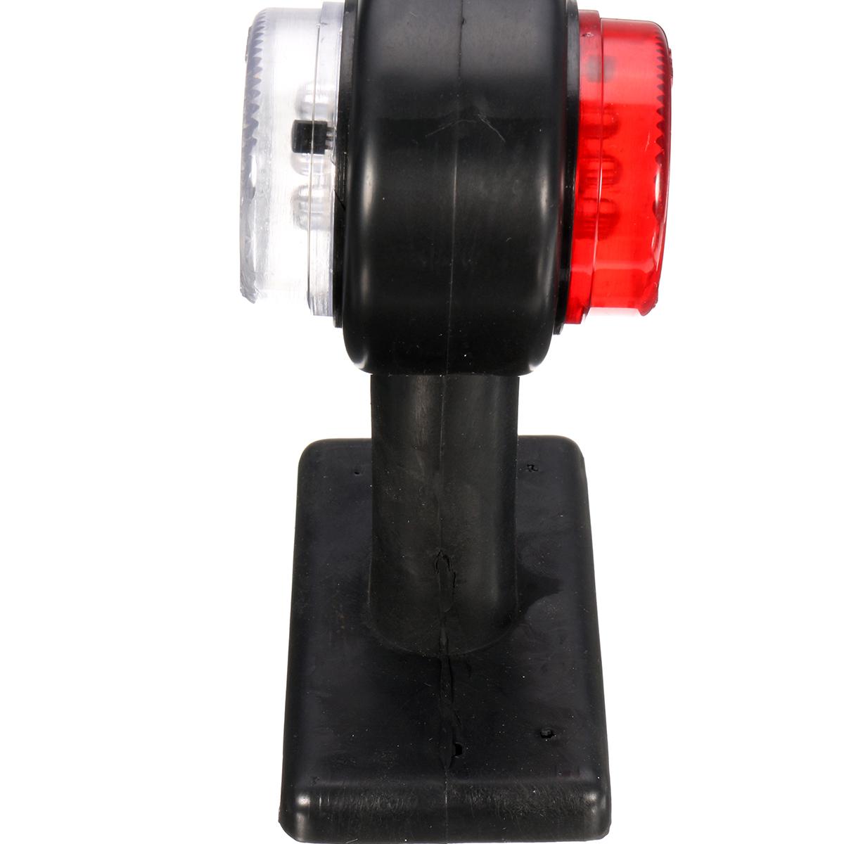 Pair LED Double Side Marker Clearance Lights Lamp Red White for 12V 24V Truck Trailer Caravan