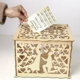 Wedding Greeting Card Box Wooden Box Lock Wedding Party Decoration Money Case