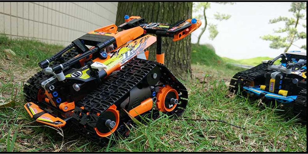 Mould King DIY Smart RC Robot Car Block Building Programmable Bluetooth APP/2.4G Stick Control Assembled Robot Toy