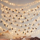 3M 5M 10M Hanging Photo Clips Warm White LED Wire Fairy String Light Battery Christmas Party Wedding Decor