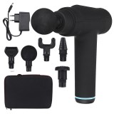30 Gears Electric Percussive Massager 2550mAh Rechargeable Deep Muscle Shock Vibrating Massager + 6 Massage Heads