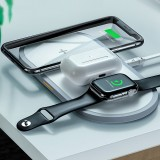 HOCO CW24 3 in 1 Wireless Charger Fast Charging Phone Charger Earbuds Charger Watch Charger For Qi-enabled Devices for iPhone 11 Apple Watch Series 5 Apple AirPods Pro