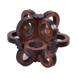 Wooden Intelligence Toys Kong Ming Lock Glasses Lock Puzzle 3D Brain Teaser Puzzle for Kids Childrens