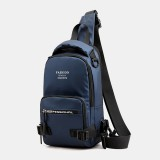 Men Fashion Light Weight Multifunctional Crossbody Bag Shoulder Bag Chest Bag Backpack With USB Charging Port