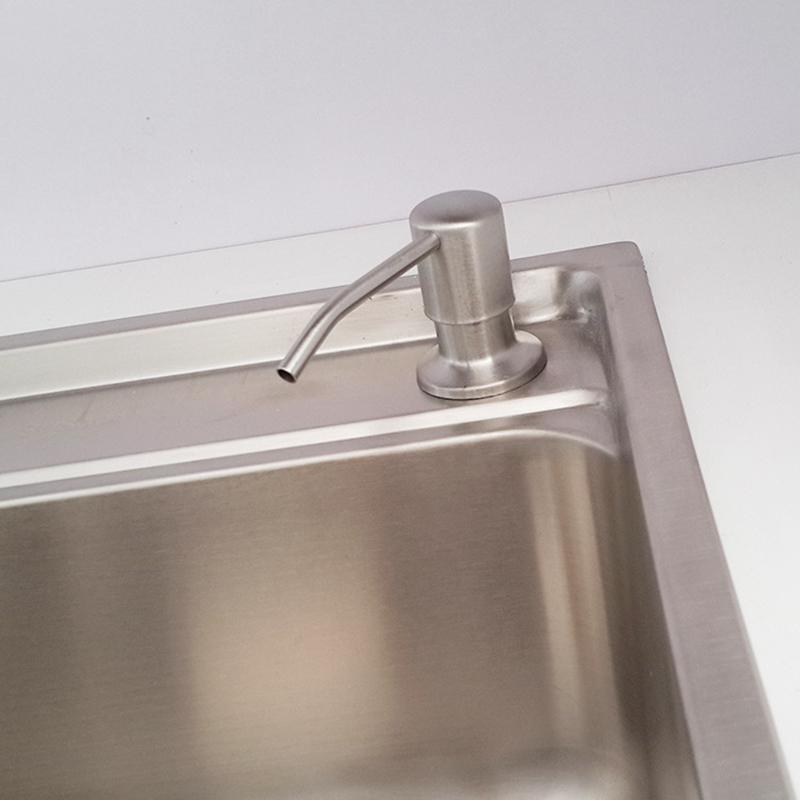 Bathroom Kitchen Soap Dispenser for Sink Detergent Liquid Hand Wash Soap Dispenser Pump for Kitchen Stainless Steel Head
