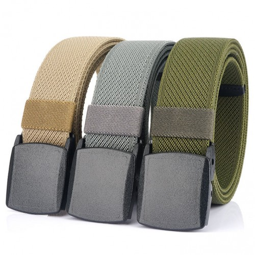 ENNIU 125cm 3.8cm Width Men Fashion Nylon Automatic Buckle Waist Belts Quick Unlock Tactical Belt For Outdoor Sports Training