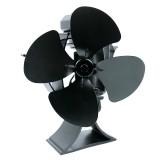 4 Blades Heat Powered Wood Stove Fan Wood Log Burner Fireplace Eco-friendly Fan No Electricity