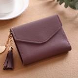 Women Tassel Small Mini Wallet Card Holder Clutch Coin Purse Leather Handbag