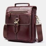 Men Genuine Leather Handbag Shoulder Bag Crossbody Bag Business Bag