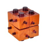 Wood Kong Ming Lock Brain Development Educational Puzzle Game 8 Blocks Magic Box Wooden Toys for Adult Children