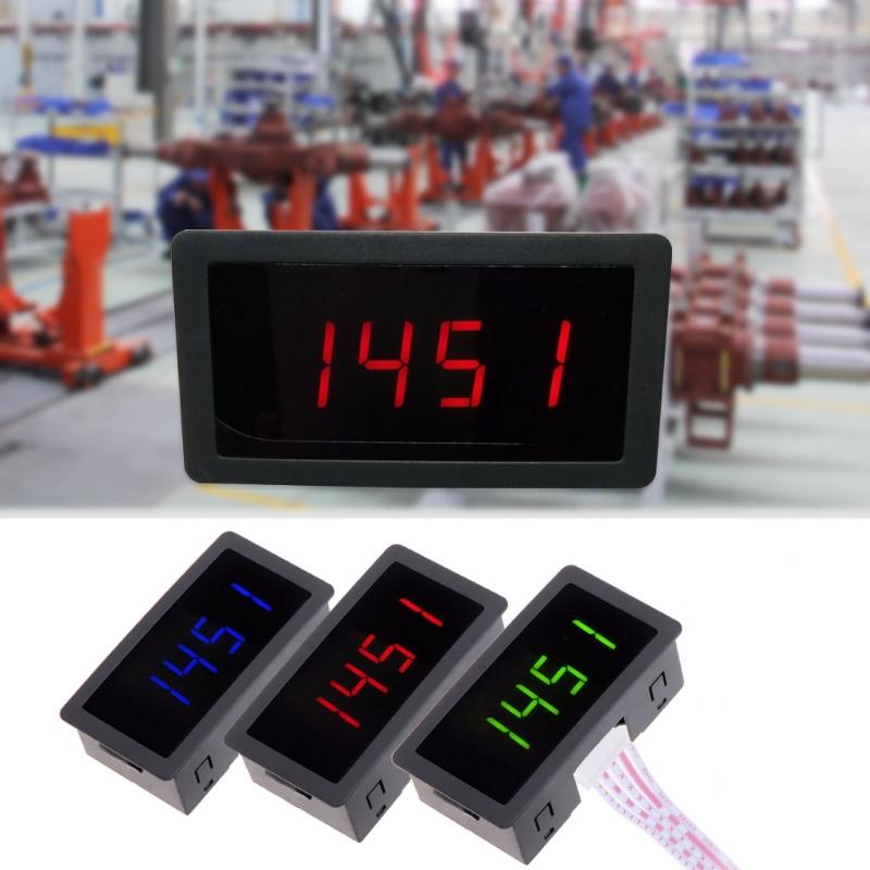 DC 8-24V 4 Digital LED Tachometer RPM Speed Meter with Hall Proximity Switch Sensor NPN 10-9999RPM