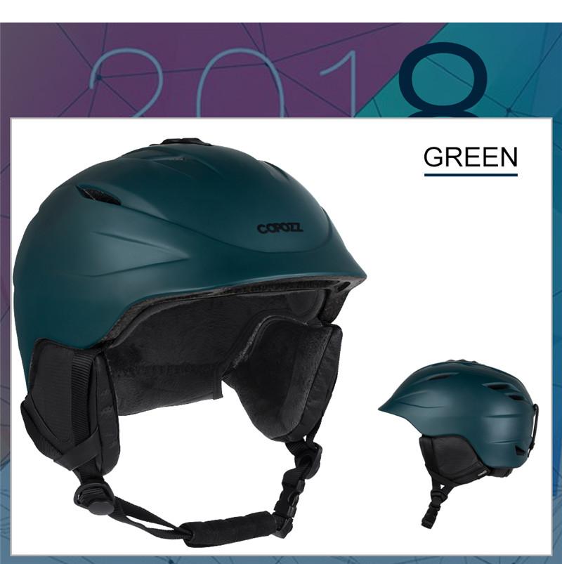 COPOZZ Snowboard Ski Motorcycle Helmet Safety Protective Integrally-molded Breathable Men Women Skateboard Skiing