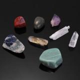 8PCS Natural Crystals Gemstones Quartz Minerals Stones Healing Specimen Wand Set