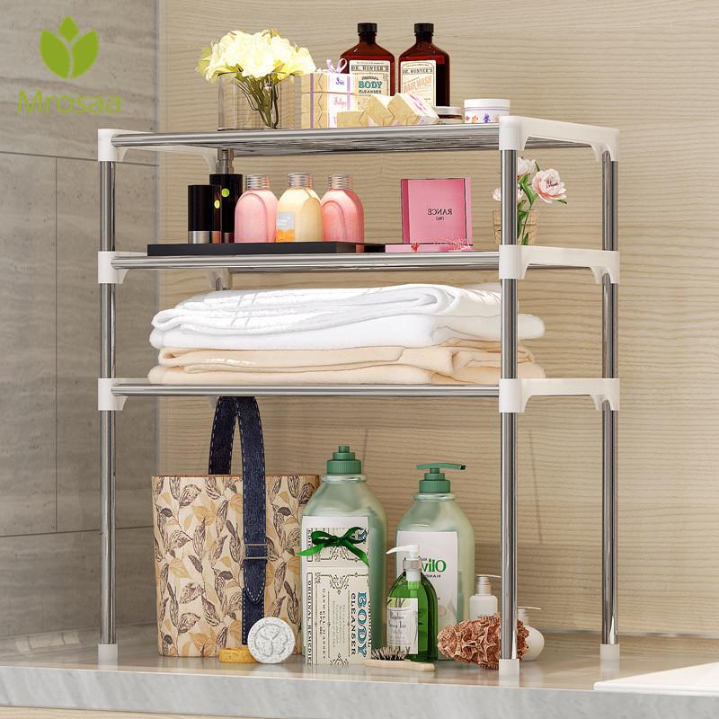2/3 Tiers Microwave Shelf Rack Kitchen Shelf Spice Organizer Kitchen Storage Rack Bathroom Organizer Shelf Book Shoes Shelves