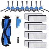 19pcs Replacements Brush Parts for Eufy RoboVac 11S RoboVac 30C RoboVac 30 RoboVac 15C Vacuum Cleaner Side Brushes*8 HEPA Filters*8 Main Brush*1 Cleaning Round Tool*1 Screwdriver*1