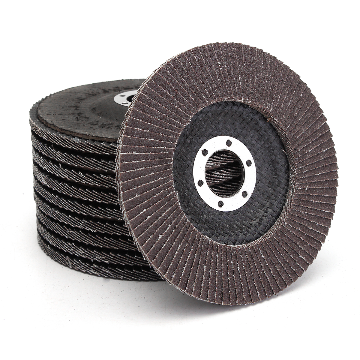 """10Pcs 5"""" 125mm 40 60 80 120 Grit Angle Grinder Flap Sanding Disc Grinding Wheels Silicon Carbide Polishing Cutting Copper"""