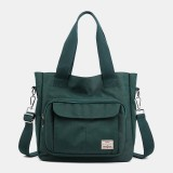 Women Casual Light Weight Tote Solid Large Capacity Handbag Crossbody Bag