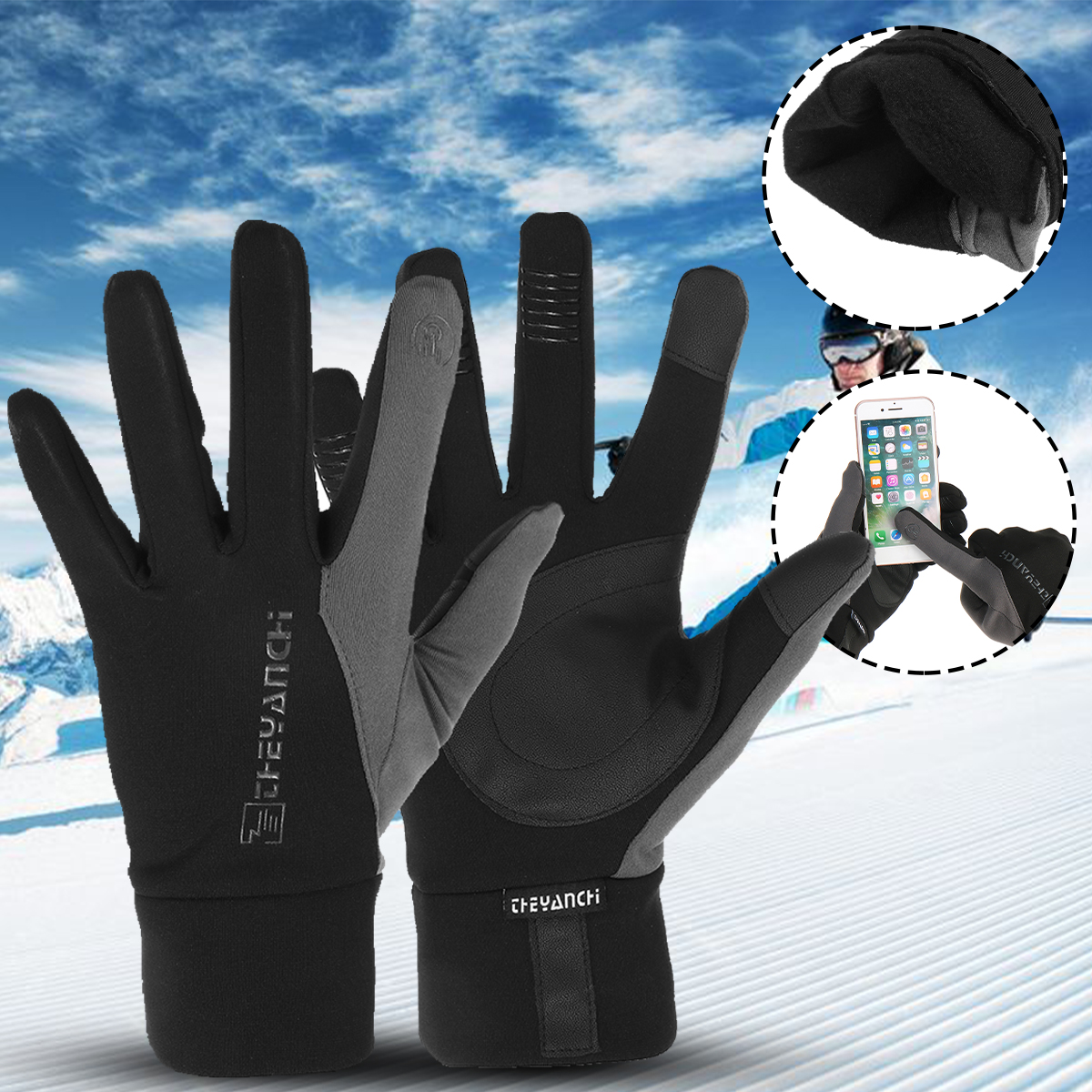 Non-slip Touch Screen Winter Warm Thermal Gloves Ski Snow Snowboard Cycling Bike Gloves