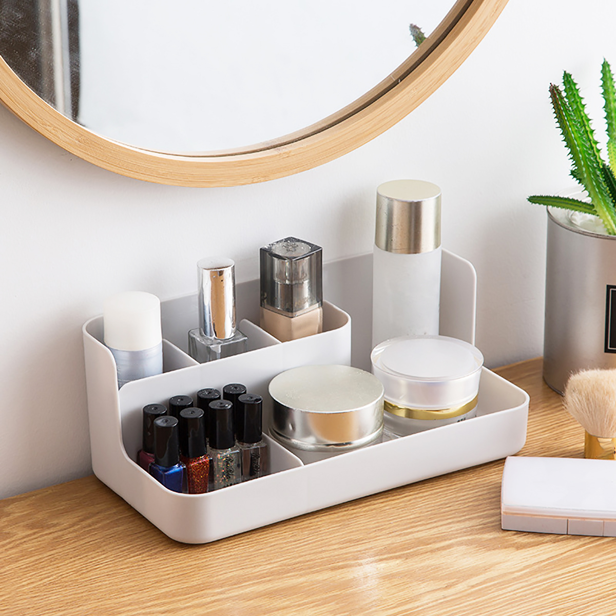 Large Capacity Cosmetic Bag Storage Box Drawer Makeup Organizer Dressing Table Skin Care Rack House Container