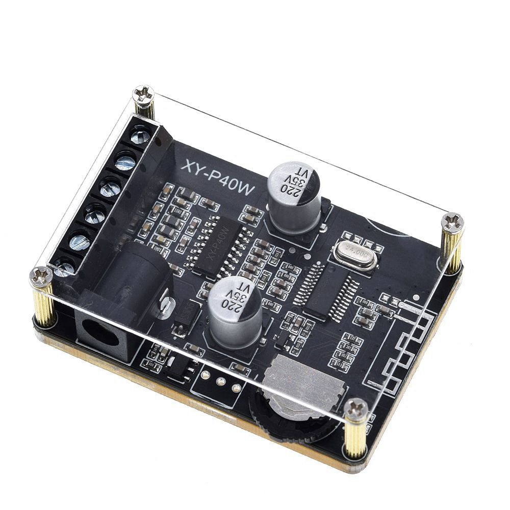 XY-P40W 40Wx2 Dual Channel bluetooth 5.0 Stereo Audio Power Digital Amplifier Board DIY Amplifier DC5-24V with/without Shell