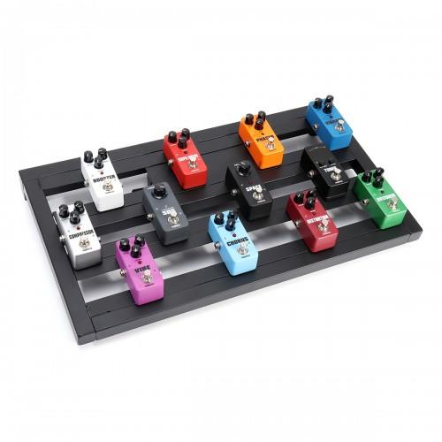 Guitar Effects Pedal Board Portable Aluminium Alloy Guitar Effects Pedal Board Pedalboard