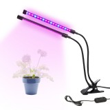 Dual Head 36LED Plant Grow Light 18W Plant Lamp USB Timing Adjustable Flexible Gooseneck for Indoor Plants Greenhouse