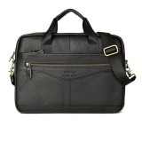 Men Leather Business Briefcase Travel Shoulder Bag Portable Laptop Bag Messenger Handbag