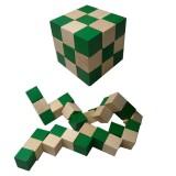 CBETTERU ZC032 Kong Ming lock Magic Cube Ruler Intelligence Lock Traditional Wooden Brain Teaser Puzzle Educational Toys