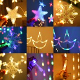 AC220V 2.5M Warm White Colorful LED String Fairy Curtain Light for Christmas Holiday Wedding Party Decor