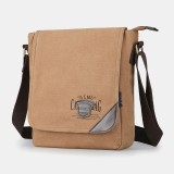 Canvas Retro Large Capacity Shoulder Bag Crossbody Bag For Men