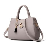 Women Tassel Leather Handbag Messenger Satchel Shoulder Crossbody Bag
